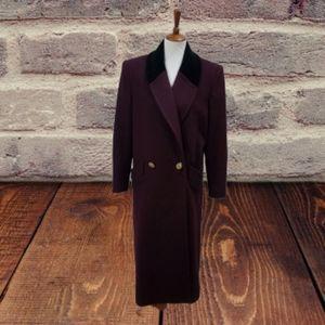 Jackets & Blazers - Vintage Jones New York Purple Long Coat